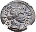 Ancients:Roman Republic, Ancients: Julius Caesar, as Dictator (49-44 BC). AR denarius (20mm, 3.91 gm, 6h)....