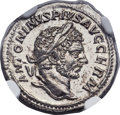 Ancients:Roman Imperial, Ancients: Caracalla (AD 198-217). AR denarius (19mm, 2.97 gm,2h)....