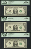 Error Notes:Miscellaneous Errors, Fr. 1932-B $1 2006 Federal Reserve Notes. Nine Consecutive Examples. PCGS Very Choice New 64PPQ-Gem New 66PPQ.. ... (Total: 9 notes)