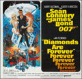 "Movie Posters:James Bond, Diamonds are Forever (United Artists, 1971). Six Sheet (77"" X 78"").James Bond.. ..."