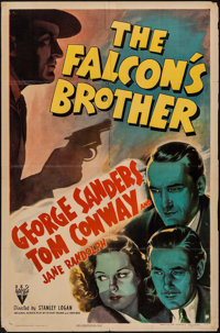 "The Falcon's Brother (RKO, 1942). One Sheet (27"" X 41""). Mystery"