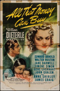 """Movie Posters:Drama, All That Money Can Buy (RKO, 1941). One Sheet (27"""" X 41""""). Drama....."""