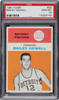Basketball Cards:Singles (Pre-1970), 1961 Fleer Bailey Howell #20 PSA Gem Mint 10 - Pop Two....