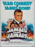 """Movie Posters:James Bond, Never Say Never Again (Warner Brothers, 1983). French Grande (47"""" X63""""). James Bond.. ..."""