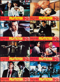 "Pulp Fiction (Miramax, 1994). French Lobby Card Set of 12 (9"" X 13.25""). Crime. ... (Total: 12 Items)"