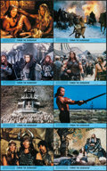 "Movie Posters:Action, Conan the Barbarian (Universal, 1982). Mini Lobby Card Set of 8 (8""X 10""). Action.. ... (Total: 8 Items)"