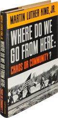 Books:Americana & American History, Dr. Martin Luther King, Jr. Where Do We Go from Here:Chaos or Community? New York: Harper & Row, [1967].First ...