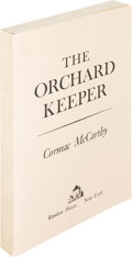 Books:Literature 1900-up, Cormac McCarthy. The Orchard Keeper. New York: Random House,[1965]. First printing, advance reading copy....