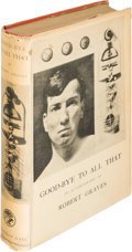 Books:Biography & Memoir, Robert Graves. Good-Bye to All That. London: Jonathan Cape,[1929]. First edition, first state....