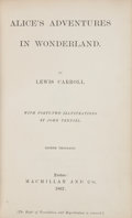 Books:Literature Pre-1900, Lewis Carroll. Alice's Adventures in Wonderland. London:Macmillan and Co., 1867. Eighth thousand....