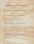 Books:Literature Pre-1900, Miguel de Cervantes Saavedra. The History and Adventures of theRenowned Don Quixote. London: Printed for A. Millar,... (Total:2 Items)