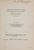 Books:Science & Technology, H[enry] D[eWolf] Smyth. A General Account of the Development of the Methods of Using Atomic Energy for Military Purposes...