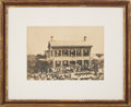 Photography:Official Photos, Abraham Lincoln: Large Photograph of 1860 Political Rally....