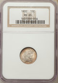 Barber Dimes: , 1900 10C MS65 NGC. NGC Census: (32/12). PCGS Population (21/17).Mintage: 17,600,912. CDN Wsl. Price for problem free NGC/P...