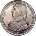 "Argentina, Argentina: Ferdinand VII silver ""Buenos Aires Founding""Proclamation Medal 1808 AU58 NGC,..."