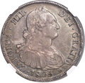 Chile, Chile: Charles IV 8 Reales 1805 So-FJ XF40 NGC,...