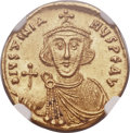 Ancients:Byzantine, Ancients: Justinian II, first reign (AD 685-695). AV solidus (20mm,4.46 gm, 6h)....