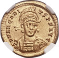 Ancients:Roman Imperial, Ancients: Arcadius, Eastern Roman Emperor (AD 383-408). AV solidus (20mm, 4.42 gm, 6h). ...