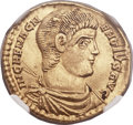 Ancients:Roman Imperial, Ancients: Magnentius (AD 350-353). AV solidus (22mm, 4.41 gm, 6h)....