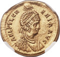 Ancients:Roman Imperial, Ancients: Aelia Pulcheria, sister of Theodosius II (Augusta, AD414-453). AV solidus (21mm, 4.38 gm, 6h)....