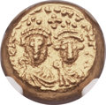 Ancients:Byzantine, Ancients: Heraclius (AD 610-641), with Heraclius Constantine. AVsolidus (12mm, 4.51 gm, 6h)....