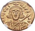Ancients:Byzantine, Ancients: Tiberius III Apsimar (AD 698-705). AV solidus (20mm, 4.43gm, 6h)....