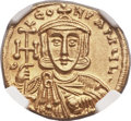 Ancients:Byzantine, Ancients: Constantine V Copronymus (AD 741-775), with Leo III. AVsolidus (20mm, 4.44 gm, 6h)....