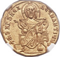Ancients:Byzantine, Ancients: Basil I the Macedonian (AD 867-886), with Constantine. AVsolidus (20mm, 4.42 gm, 7h)....