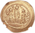 Ancients:Byzantine, Ancients: Romanus IV Diogenes (1068-1071), with Eudocia, MichaelVII, Constantius and Andronicus. AV histamenon nomisma (28mm, 4.37gm, ...