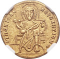 Ancients:Byzantine, Ancients: Romanus I Lecapenus (AD 920-944), with Constantine VIIand Christopher. AV solidus (21mm, 4.34 gm, 6h). ...