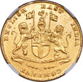 India:British India, India: British India. Madras Presidency gold Mohur ND (1819) UNC Details (Surface Hairlines) NGC,...