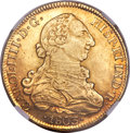 Chile: , Chile: Charles IV gold 8 Escudos 1803 So-FJ AU58 NGC,...
