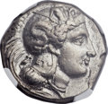 Ancients:Greek, Ancients: LUCANIA. Thurium. Ca. 350-300 BC. AR distater (26mm,15.67 gm, 8h)....