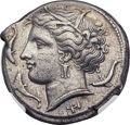 Ancients:Greek, Ancients: SICILY. Syracuse. Agathocles (317-289 BC). AR tetradrachm (25mm, 17.10 gm, 6h)....
