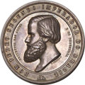 Brazil, Brazil: Pair of Pedro II National Exposition Medals in Silver,...(Total: 2 medals)