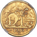 German East Africa, German East Africa: German Colony. Wilhelm II gold 15 Rupien 1916-TAU Details (Plugged) NGC,...