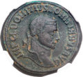 Ancients:Roman Imperial, Ancients: Domitius Domitianus, Usurper in Egypt (AD 296-297/8). BIfollis or nummus (26mm, 10.96 gm, 11h)....