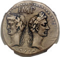 Ancients:Roman Imperial, Ancients: Augustus (27 BC-AD 14), with Marcus Agrippa (died 12 BC). Æ as (25mm, 12.91 gm, 3h)....