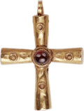 Ancients:Byzantine, Ancients: BYZANTINE EMPIRE. Gold cross pendant. Ca. 6th-8thcenturies AD. (31 X 40mm, 6.22 gm)....