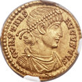 Ancients:Roman Imperial, Ancients: Constans (AD 337-350). AV solidus (21mm, 4.30 gm, 5h)....