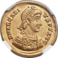 Ancients:Roman Imperial, Ancients: Arcadius, Eastern Roman Emperor (AD 383-407). AV solidus(21mm, 4.46 gm, 6h)....