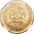 Ancients:Byzantine, Ancients: Basil II Bulgaroctonos (AD 976-1025), with ConstantineVIII. AV histamenon nomisma (26mm, 4.43 gm, 7h)....