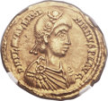Ancients:Roman Imperial, Ancients: Valentinian III, Western Roman Emperor (AD 425-455). AVsolidus (21mm, 4.40 gm, 5h)....