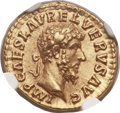 Ancients:Roman Imperial, Ancients: Lucius Verus (AD 161-169). AV aureus (19mm, 6.96 gm, 1h)....