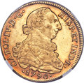 Chile, Chile: Charles IV gold 8 Escudos 1790 So-DA AU Details (SurfaceHairlines) NGC,...