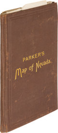 Books:Maps & Atlases, [John W. Parker]. Map of the State of Nevada compiled by John W. Parker, Chief Draughtsman of the U.S. Sur. General's Of...
