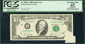 Error Notes:Foldovers, Fr. 2028-L $10 1988A Federal Reserve Note. PCGS Apparent ExtremelyFine 45.. ...