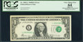 Error Notes:Shifted Third Printing, Fr. 1905-L $1 1969B Federal Reserve Note. PCGS Apparent Very Choice New 64.. ...