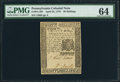 Colonial Notes:Pennsylvania, Pennsylvania April 25, 1776 30s PMG Choice Uncirculated 64.. ...
