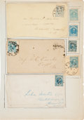 Miscellaneous:Ephemera, Nice Collection of Blue General Issue Confederate Postal Items....